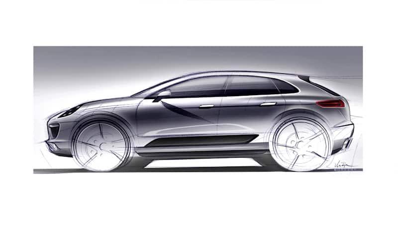 Designskizze Porsche Macan