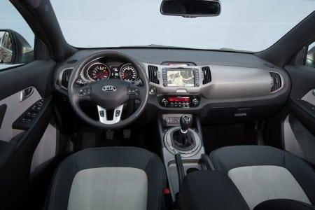 KIA Sportage SUV Innenraum Modell 2014. Foto: KIA
