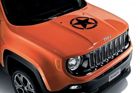 Jeep Renegade Black US Army star on the hood