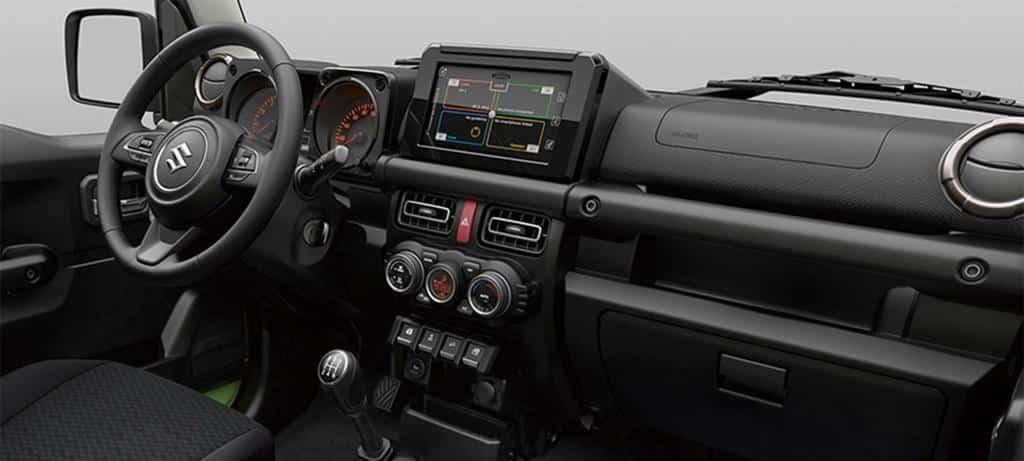 Neuer Suzuki Jimny Innenraum