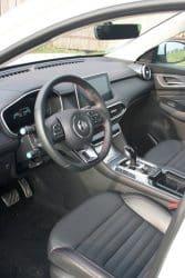 MG EHS Test Fahrzeug Innenraum